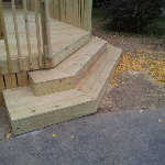 Stairs to new Deck